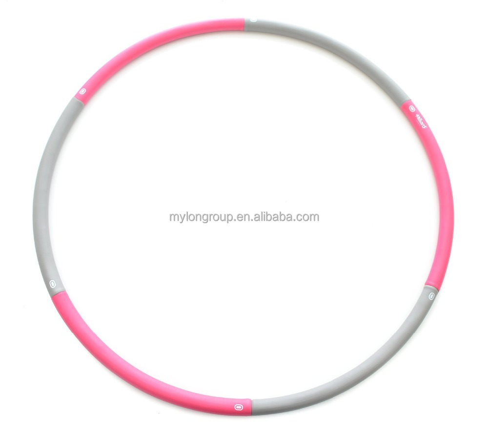 multicolor plastic with foam keep fit eco friendly hula hoop