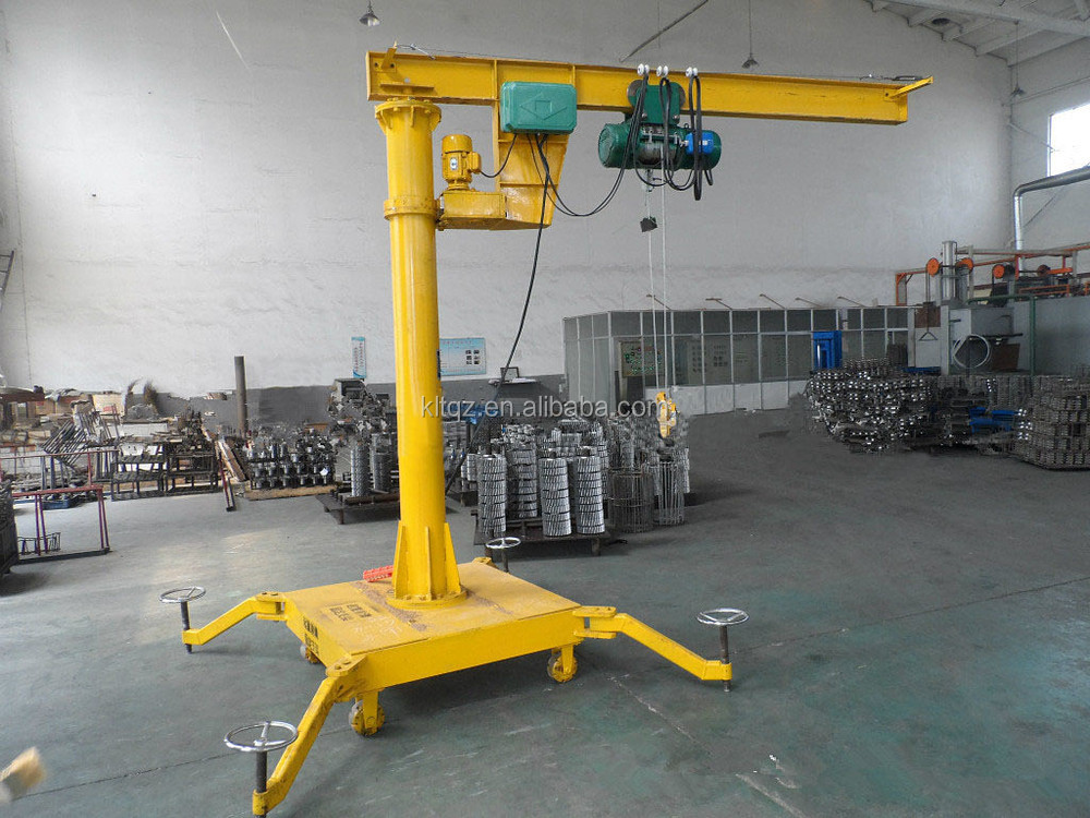 Small Jib Crane : Hot sale free standing mobile portable mini jib crane