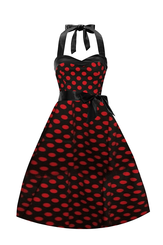 109b607cd5e3 Get Quotations · IMUYI Women Vintage Dresses Halter 50s Rockabilly Wiggle  Party Dress
