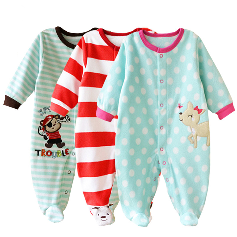 BABY ROMPERS Ropa Bebe Cotton Newborn Babies Infantil Body 3-12 M Baby Girls Boy Clothes Jumpsuit Long Romper Clothing Bebes