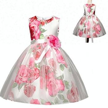 2018 Niños Rosa Flor Noche De Cumpleaños De Bebé Vestidos Para Fiesta De Niñas De 4 Años Buy Vestidos Para Fiesta Niñas 4 Añoscumpleaños De