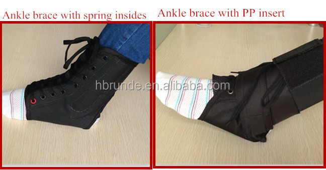new design FDA approved lace-up ankle support brace