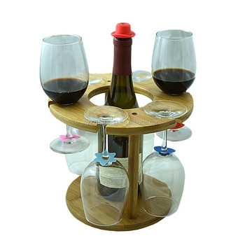 Wholesale Bamboowooden Wine Glass Rackbamboo Wine Bottle And Glass