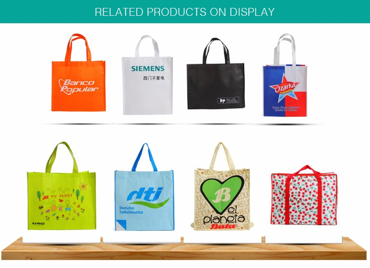 Selling non woven laminated pp nonwoven custom logo print RPET bag