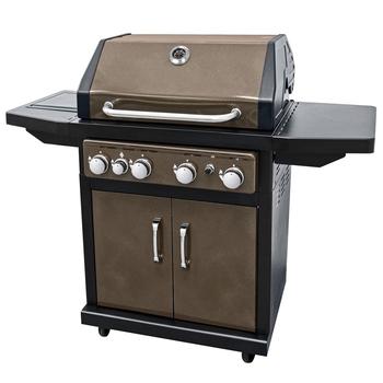 4 Fuochi Propano Bbq Barbecue Griglie A Gas Con Bruciatore Laterale ...