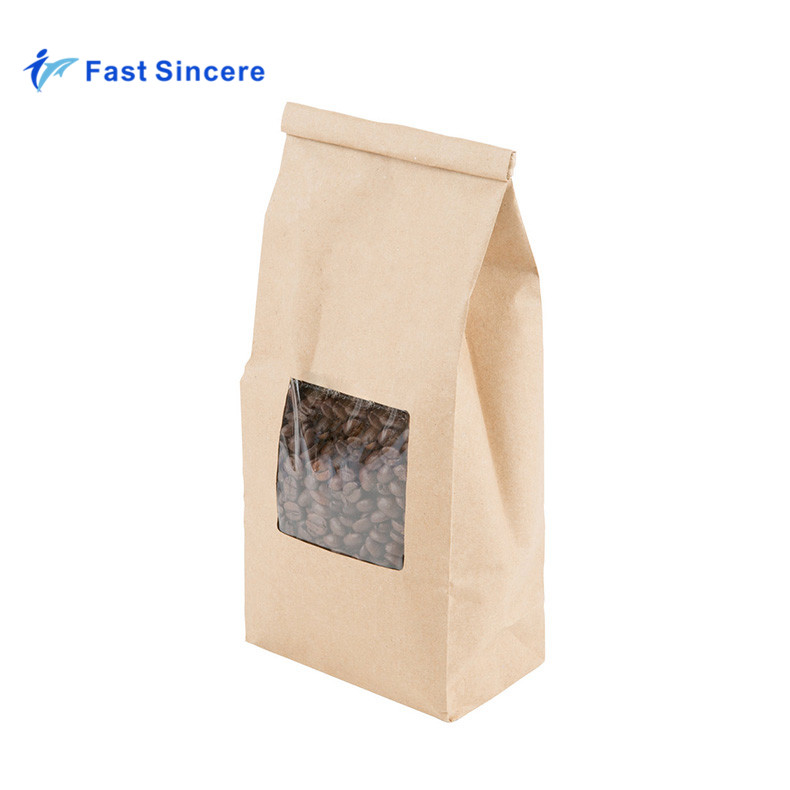 Tamaño personalizado impermeable de café de papel Kraft bolsas con válvula