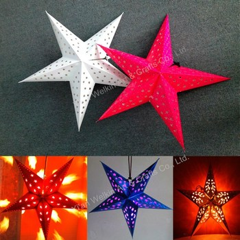 Hanging christmas paper star lamp shade buy christmas paper star hanging christmas paper star lamp shade aloadofball Images
