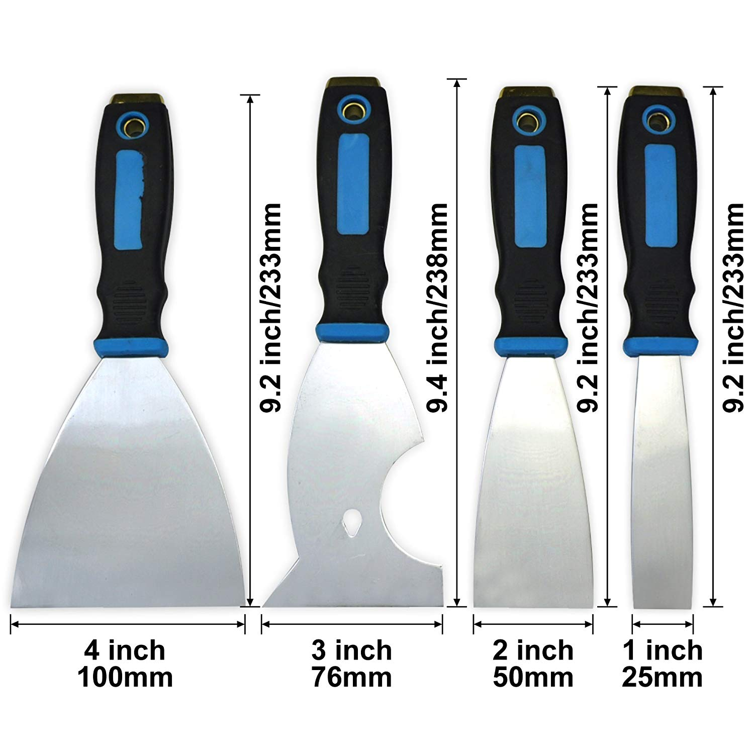 4 Piece(1inch,2inch,6in1,4inch) Paint scraper,putty knife,taping knife,paint roller cleaner,paint scraper set,Painters scraper,paint scraper,putty knife,tools,tool set,home repair tools,paint tools