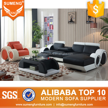 SUMENG Alibaba Classic Antique Italian Leather Couch Living Room Sofa