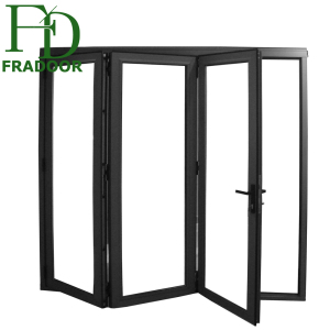 Oem Manufacture Soundproof Interior Glass Folding Door Toilet