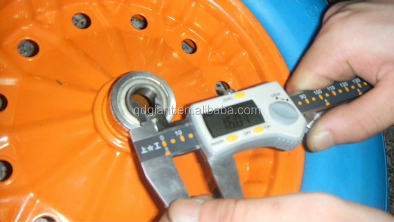 blue PU foam rubber wheel 4.80/4.00-8