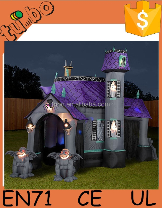 2015 hot sale custom halloween inflatable haunted house for sale for halloween decoration