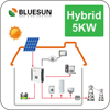 Bluesun New storge system hybrid 5kw 5000w hybrid solar lighting system