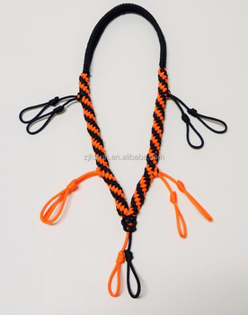 Fashion Custom Paracord Duckgoose Call Lanyard Orange And Black