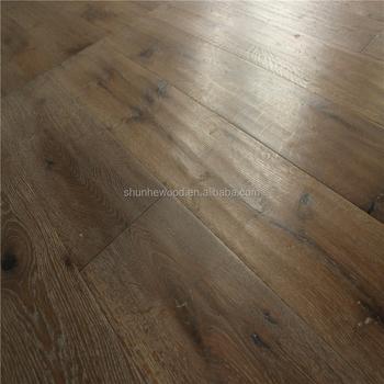 240mm Wide 1900mm Floorboard Grey Smoked 21mm French Oak 6mm Wear