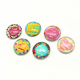 Round glass personalized wholesale refrigerator magnets