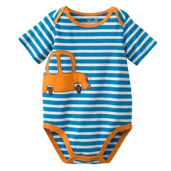 90215d0309 Hot Sale Cotton Spandex Striped Cheap Baby Clothes Applique Boys Rompers Raglan  Sleeve Bodysuits - Buy Cheap Baby Clothes
