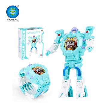 f18d3d9d8 Legal venda quente elétrica Transformando Brinquedos Meninas Crianças Relógio  Digital de Pulso Robô ...