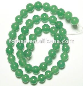 8mm round natural precious and well polished beads green color aventurine