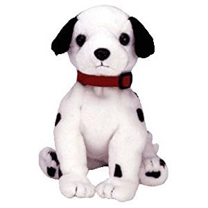 Ty Beanie Baby - DIZZY the Dalmatian (black spots, black ears & red collar)