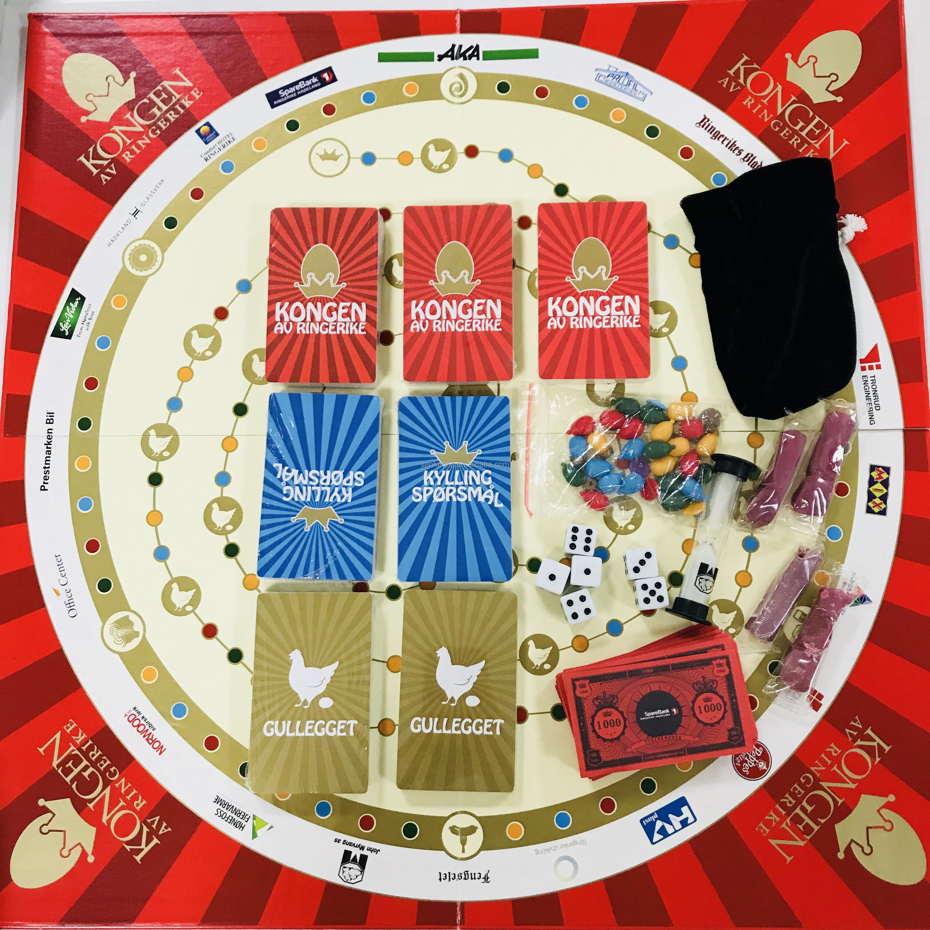 first-class quality board games / OEM board game manufacturer Chess Paper Game Board Printing