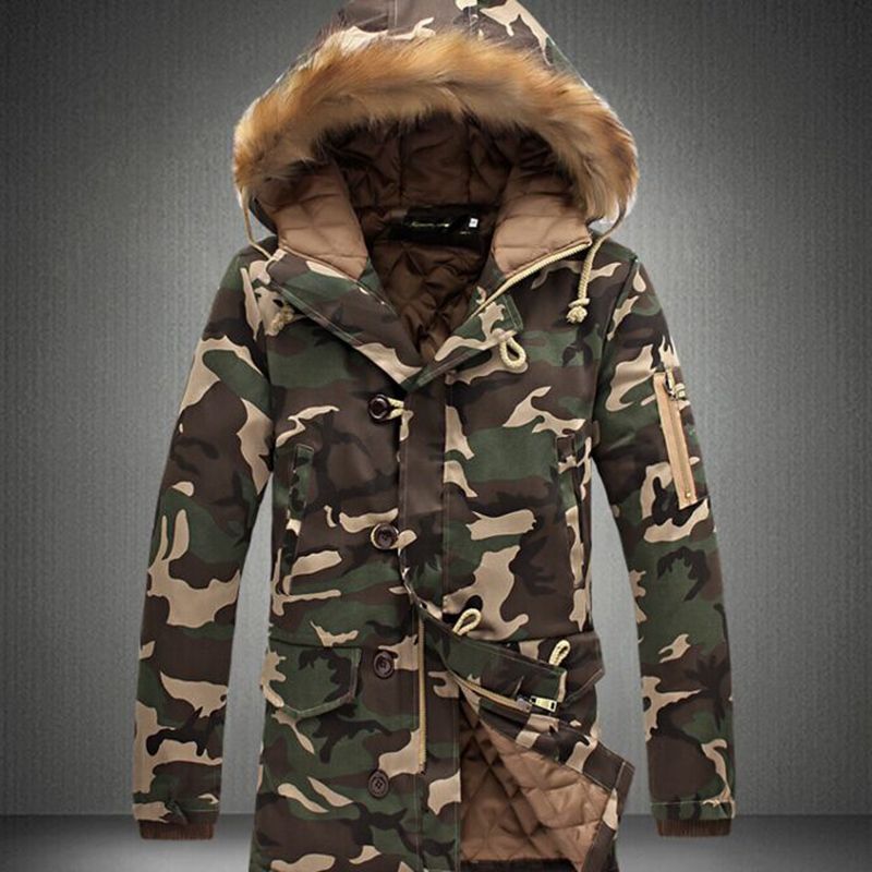 OEM Rechargeable Battery Camo Hoodie Smart Heated Down Jacket