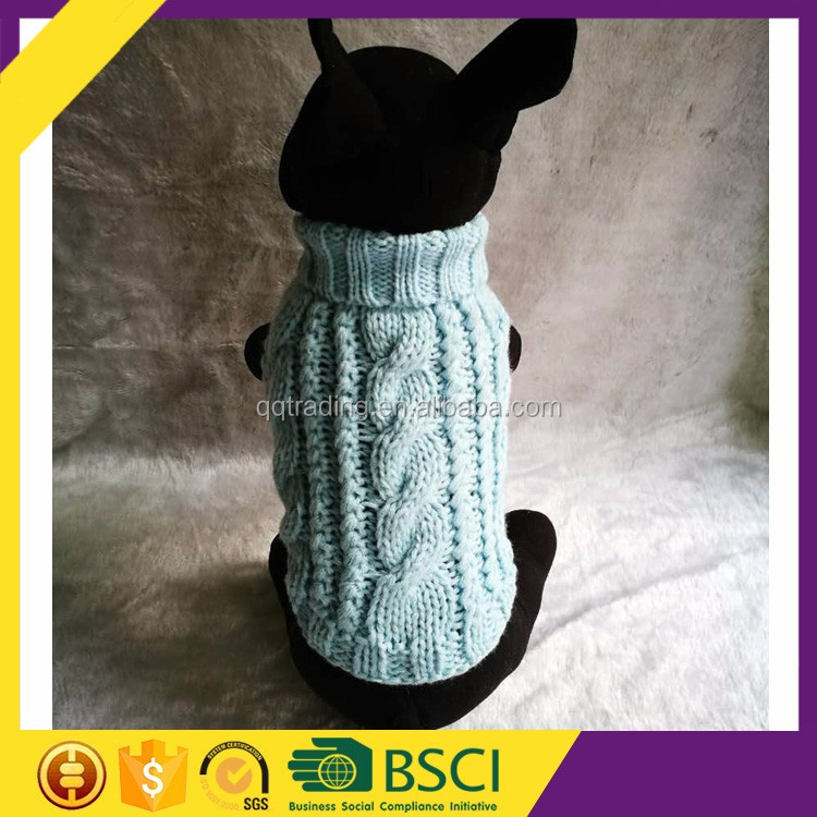 Sleeveless Cable Hand Crochet Easy Knit Small Dog Sweater Knitting