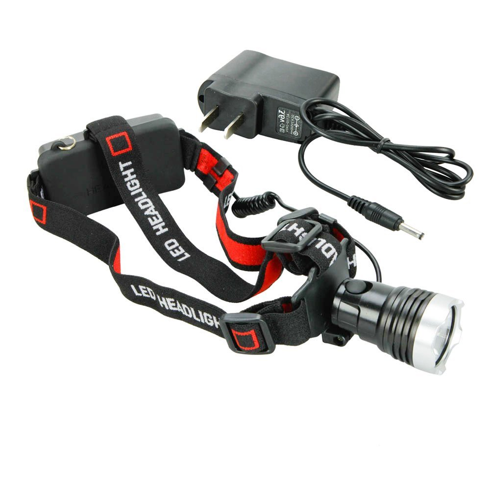 WindFire® Camping Hiking Bike Bicycle 1600 Lumens Cree XM-L T6 Super Bright LED Headlamp Headlight Head Lamp Light Torch Flashlight + Charger/Adapter + Strap