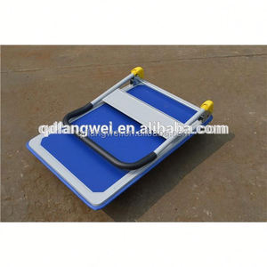 china manufacture 4 wheels foldable platform cargo trolley