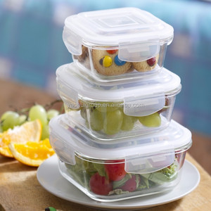 High resistance Cook & Store Glass Square glass food container set