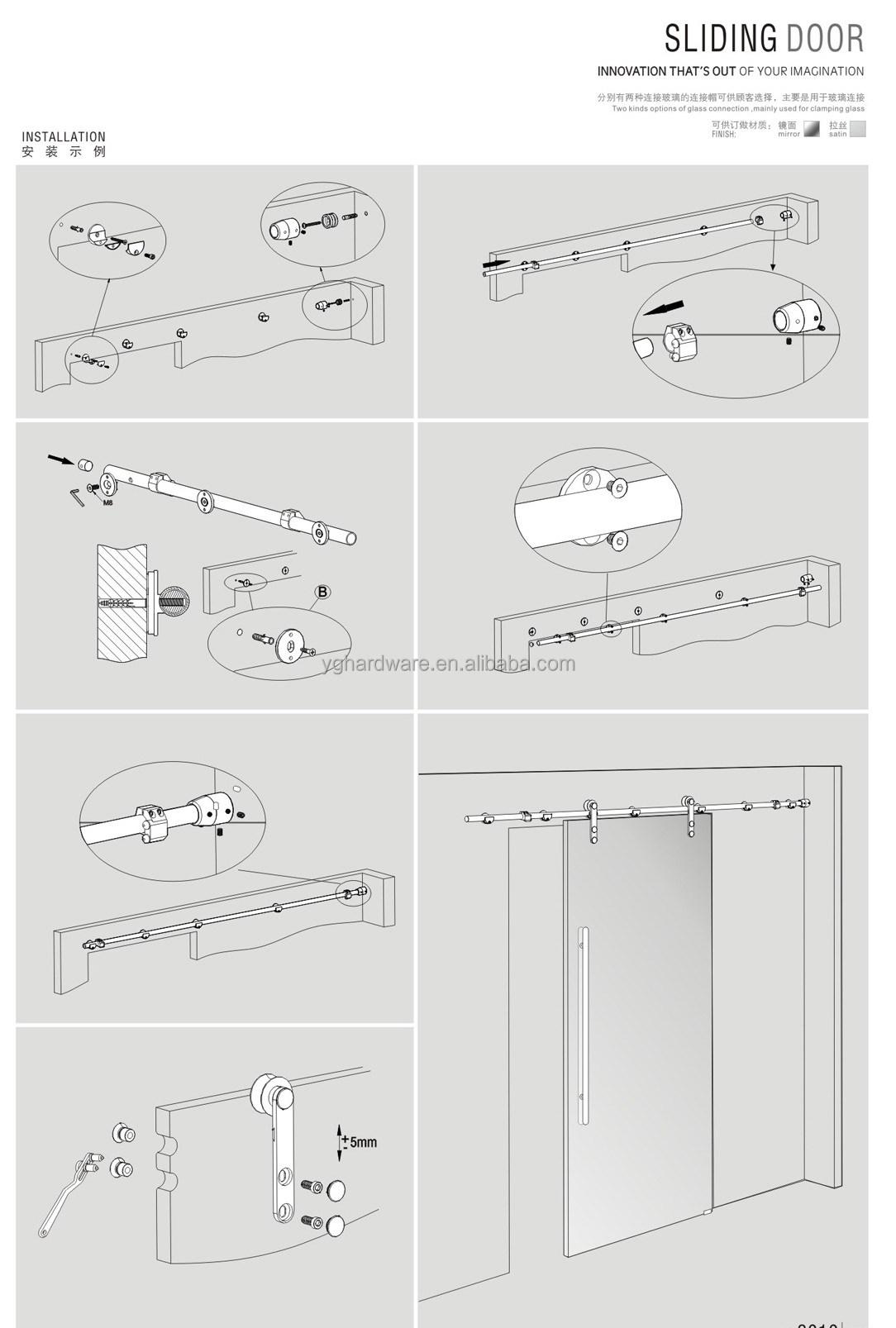 cubierta cortinas para puertas correderas de cristal