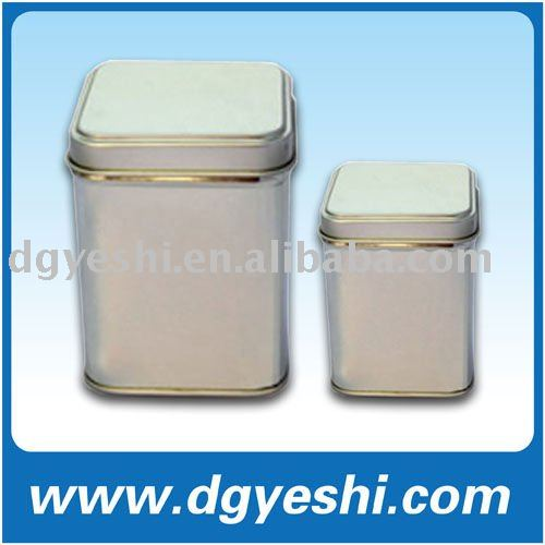 metal tin supplier,Yeshi square tea packing tin box,cookie tin can