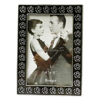 wholesale cheap pewter photo frame, rose photo frame