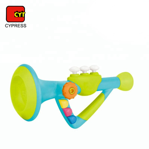 wholesale funny toys trumpet baby musical toy with battery operated