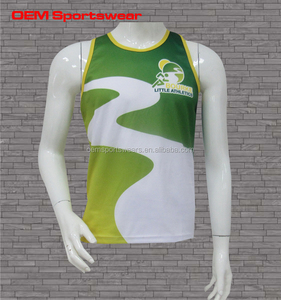 Sublimated Custom Quick dry Breathable Singlets