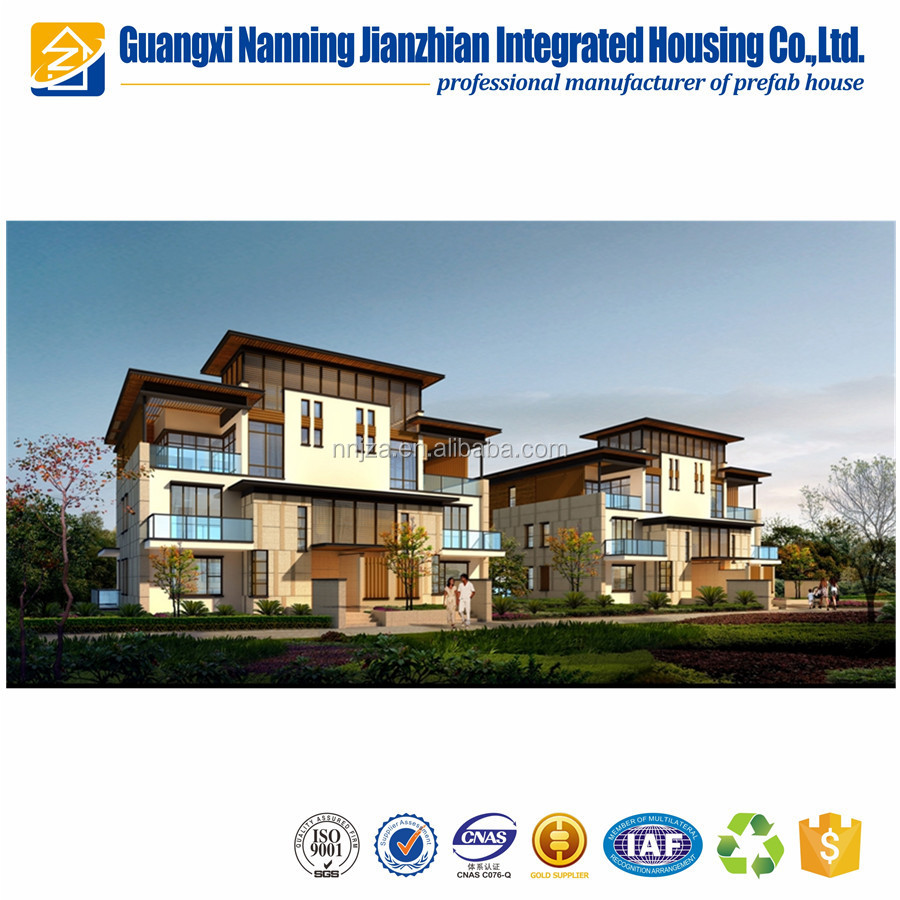 Modern Design Fast Building Steel Framing Prefabricated Villa House with Three Bedrooms