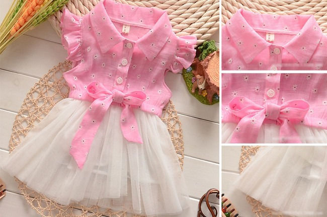 Adorable Princess Baby Toddler Girls Summer Tutu Bow Lace Tulle Party Dress