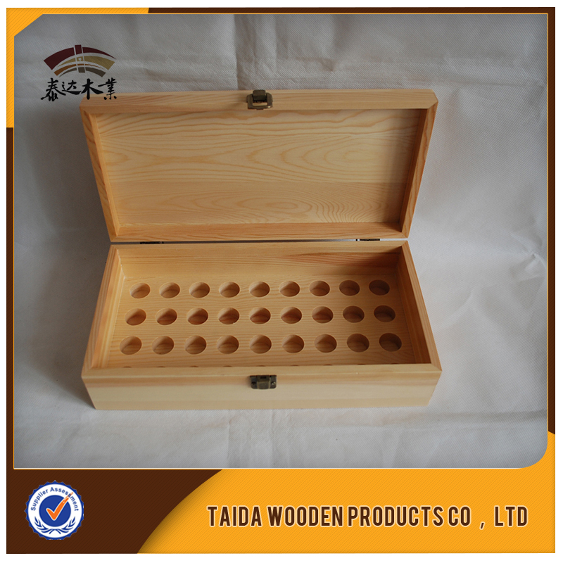 Custom Made Small Finished Wooden Essential Oil Box