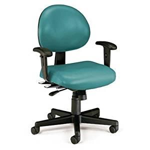 OFM 241VAMAAHF605 Navy 24 Hour AntiMicrobial/AntiBacterial Vinyl Task Chair with Arms/Hard Floor 241VAMAAHF