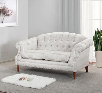 Tufted On Traditional Loveseat 2 Seater Sofa Living Room