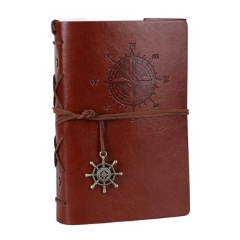 Retro classic leather blank pages journal notebook for gift