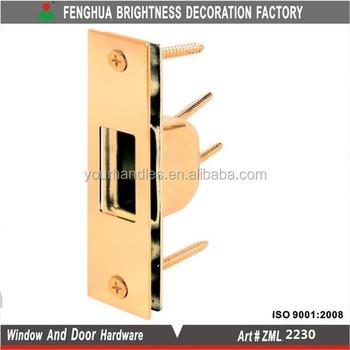 sliding door box strike plate brass plated window door lock striker