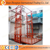 Factory supply 10M 1Ton guide rail general cargo lift table warehouse lifter