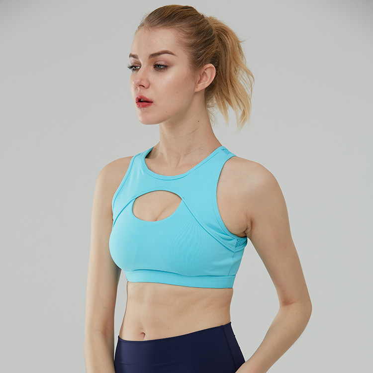 Women's Light Support Cross Back Wirefree Pad Yoga Sports Bra