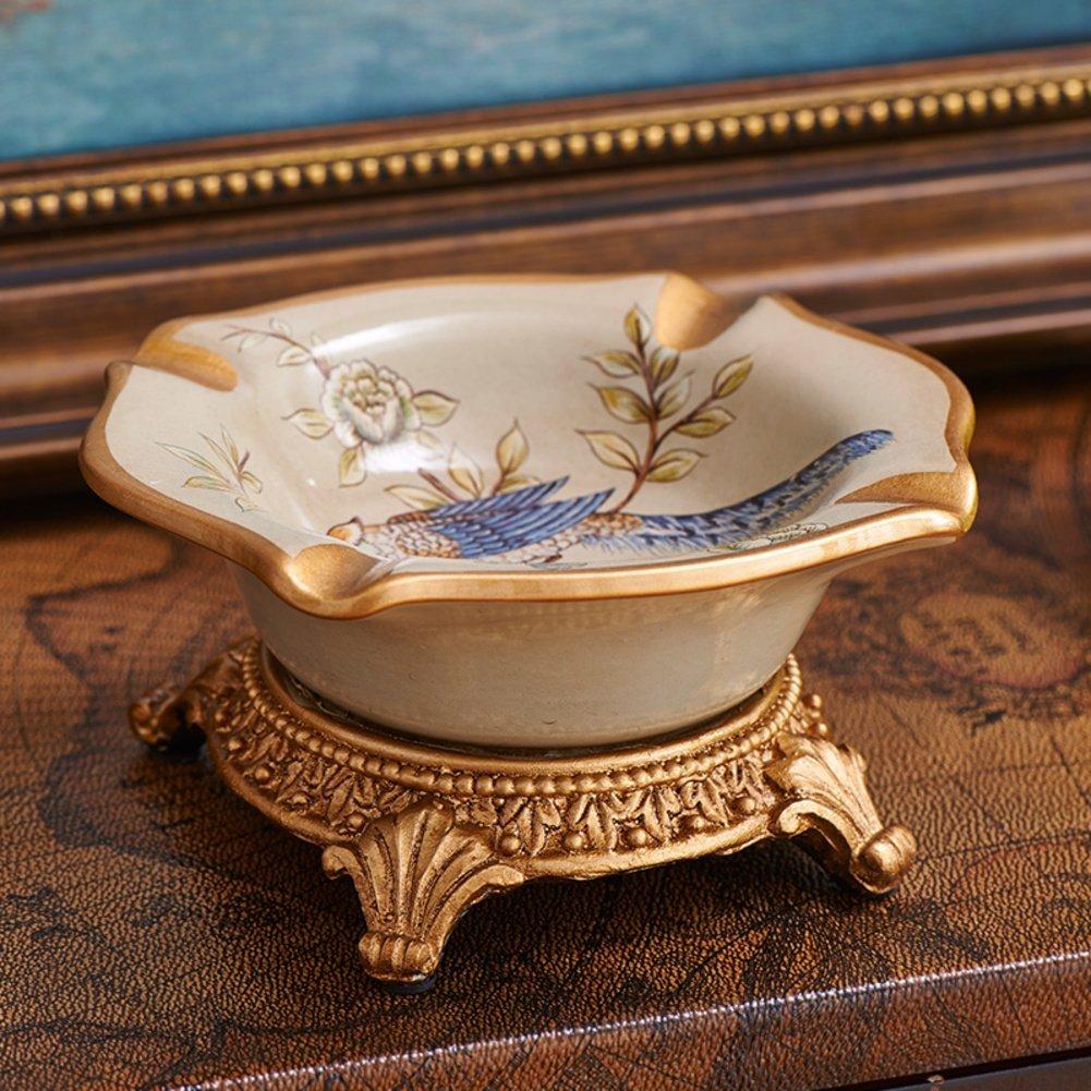 Creative retro home ceramic ashtray and ashtray fashion desk ornaments/[Fashion ashtray desk ornaments]-A
