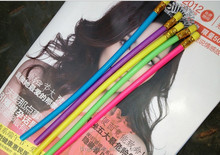 Promotion soft fun bendy flexible pencil for kids,cheap and fine.