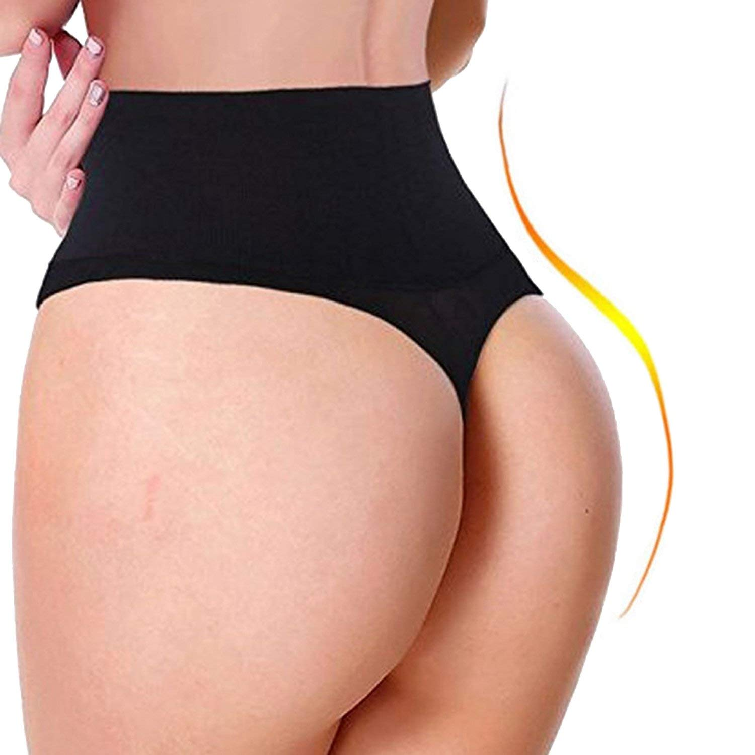 cec09dca04 Get Quotations · FLORATA Sexy Butt Lifter Body Shaper Underwear Slimming  Girdle Tummy Control Thong Pants