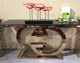 foshan furniture market modern furniture glass hobby lobby console table