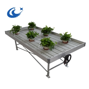 Hydroponics aquaponics rolling benches greenhouse fixed bench