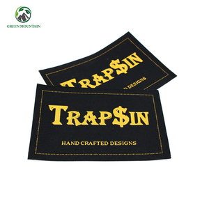 Wholesale custom made high quality damask woven label for clothing